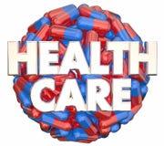 Health Care Medical System Preventative Medicine Pills Sphere Stock Image