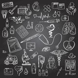 Health care and medicine doodle Royalty Free Stock Images