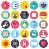 Health Care and Medicine Flat Icon Set Stock Photography