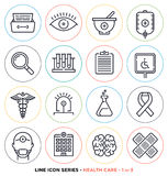 Health care & medicine line icons set Stock Images