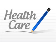 health care message sign illustration Royalty Free Stock Photography