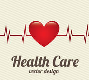 Health care. Over lineal background vector illustration Royalty Free Stock Image