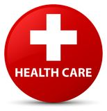 Health care (plus sign) red round button Royalty Free Stock Photography