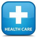 Health care (plus sign) special cyan blue square button. Health care (plus sign) isolated on special cyan blue square button abstract illustration Stock Photo
