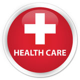 Health care (plus sign) premium red round button Royalty Free Stock Photo