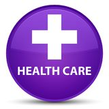 Health care (plus sign) special purple round button Royalty Free Stock Photo