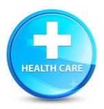 Health care (plus sign) splash natural blue round button. Health care (plus sign) isolated on splash natural blue round button abstract illustration stock illustration