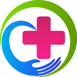 Health care plus. A vector drawing represents health care plus design Royalty Free Stock Images