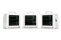 Health care portable cardiac monitoring equipment Stock Photography