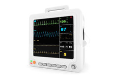 Health care portable cardiac monitoring equipment Royalty Free Stock Photos