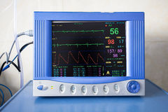 Health care portable monitoring equipment Royalty Free Stock Images