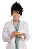 Health Care Professional With Prescription Drugs Royalty Free Stock Photos