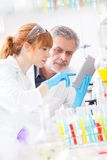 Health care professionals in lab. Royalty Free Stock Photo