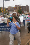 Health Care Protesters. March for Health Care Reform Royalty Free Stock Images