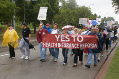 Health Care Protesters Royalty Free Stock Photos