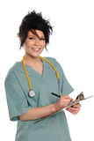 Health Care Provider With Clipboard Royalty Free Stock Photos