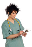 Health Care Provider With Clipboard royalty free stock photography
