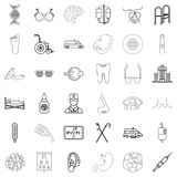 Health care provider icons set, outline style. Health care provider icons set. Outline set of 36 health care provider vector icons for web isolated on white vector illustration