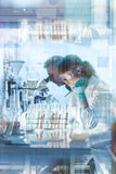 Health care researchers working in scientific laboratory. Stock Photography
