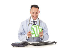 Health care on sale, 20 % Royalty Free Stock Image