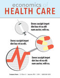 Health care sell sheet Stock Image