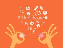 Health care services conceptual illustration. Royalty Free Stock Image