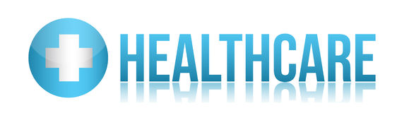 Health care sign illustration design Stock Photo