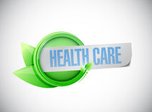 Health care sign illustration design Stock Photography