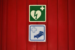 Health care signs Royalty Free Stock Photo