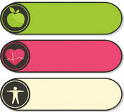 Health care stickers. Royalty Free Stock Images