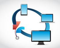 health care technology network concept Stock Image