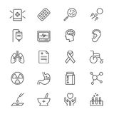 Health care thin icons. Simple, Clear and sharp. Easy to resize Stock Photography