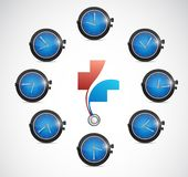 Health care time concept illustration. Design isolated over white Stock Images