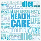 Health care word cloud royalty free stock photos