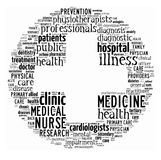 Health-care word collage Royalty Free Stock Image