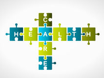 Health care. Word made out of puzzle pieces Stock Photos