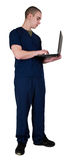 Health Care Worker. Male Health Care Worker with Notebook Computer Stock Photography