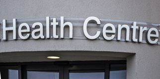 Health Centre Sign Royalty Free Stock Photos