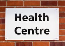 Health Centre Sign Stock Photos
