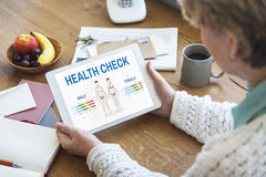 Health Check Annual Checkup Body Biology Concept. Health Check Annual Checkup Body Biology royalty free stock photography