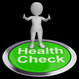 Health Check Button Shows Medical Condition Examinations Royalty Free Stock Photos