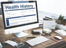 Health Check Form Claim History Record Concept Stock Images