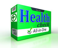 Health check green pack concept on white background Royalty Free Stock Photography