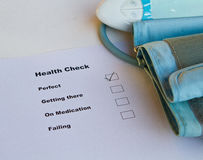 Health Check. Rating is perfect royalty free stock photography