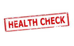 Health check. Rubber stamp with text health check inside,  illustration Stock Photography