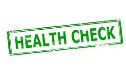 Health check. Rubber stamp with text health check inside,  illustration Royalty Free Stock Photo