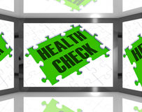Health Check Showing Medical Monitoring Stock Images