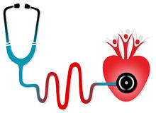 Health check with stethoscope Stock Photos