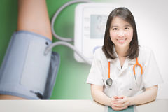 Health check up with doctor Stock Images