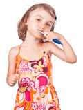 Health child hygiene brush teeth Stock Photos
